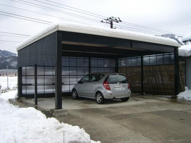 鉄骨カーポート 永平寺町