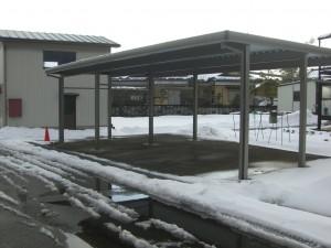 4台用折板カーポート TOEX 福井市