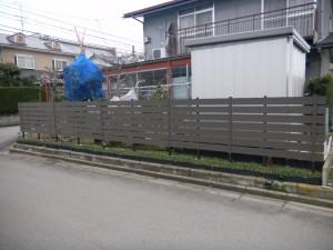 人工フェンス 丸岡町 藤田邸