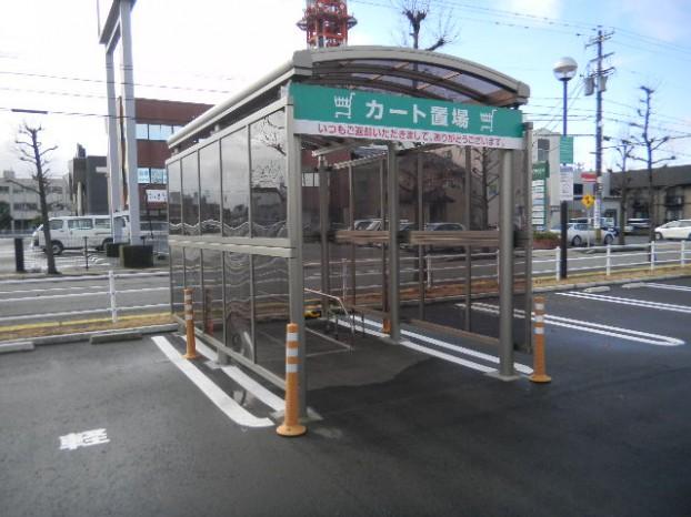 カート入れ カーポート円柱 サイドポリカ 福井市