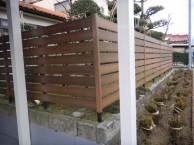 植栽と合う 人工木材 Bフェンス 福井市