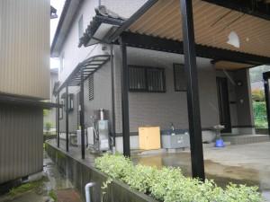 折板カーポート 特殊カーポート 永平寺町