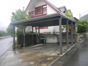 2台用折板カーポート TOEX 永平寺町