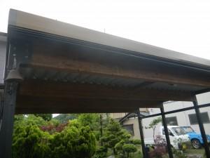 木製折板カーポート 福井市