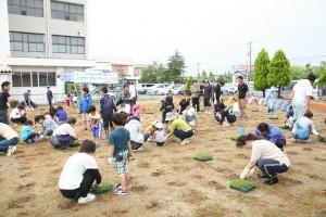 芝生化事業 坂井青年会議所 坂井市