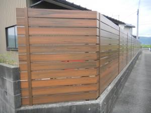 人工木材フェンス Bフェンス 坂井市