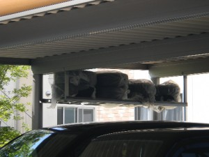 素敵なカーポート積雪100cm 激安 折板カーポート 福井市