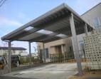 積雪100cm対応 折板カーポート 2台用TOEX 福井市