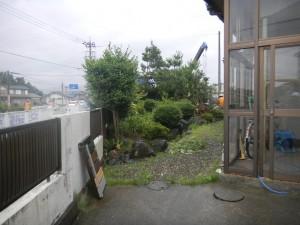 植栽 取り壊し状況 福井市