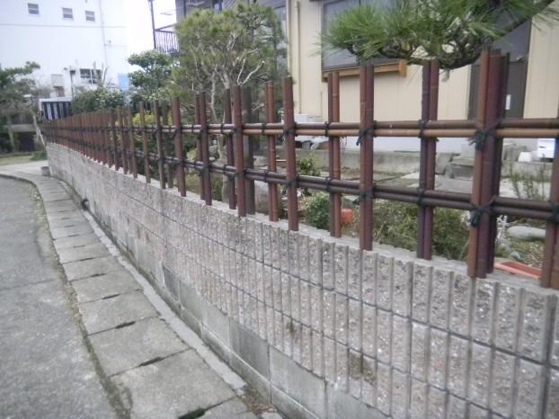 竹垣の施工例