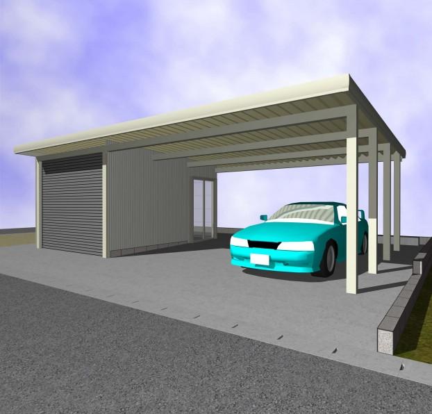 ガレージカーポート