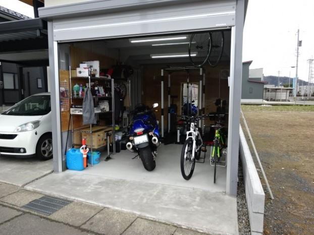 バイク保管ガレージDIY
