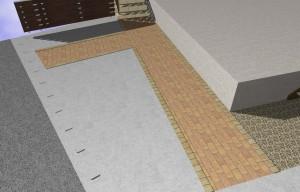コンクリート舗装インターロッキング