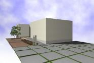 駐車場と玄関アプローチを工夫した施工