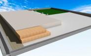 人工芝、化粧ブロック、コンクリート舗装、高さ関係資料